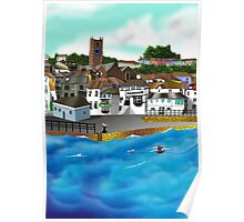 Cornish Harbour Poster