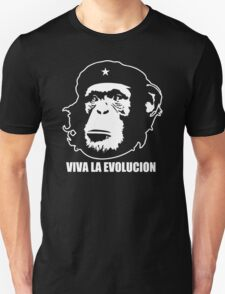 VIVA LA EVOLUCION - Evolution - Funny T-Shirt - Che Guervara Monkey S - XXXL Unisex T-Shirt