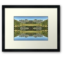 Reflections In Reverse...Alternative Reality Framed Print