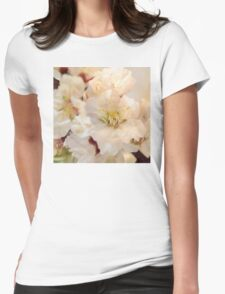 Beautiful blossoms on white Womens Fitted T-Shirt