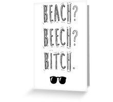 "BTS Bangtan Taehyung Jimin  ""Beach? Beech? B*tch."" Milky Design Greeting Card"