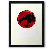 AVAILABLE SIZES S TO XXL, THUNDERCATS (BLACK)! Mens funny t-shirt Framed Print