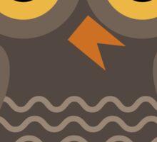 Sitting Grey Owl  Sticker