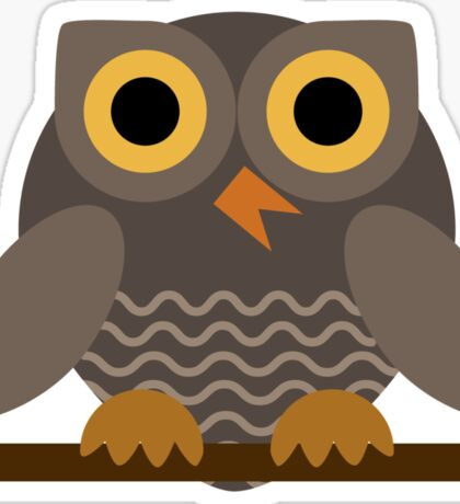 Sitting Grey Owl  Sticker