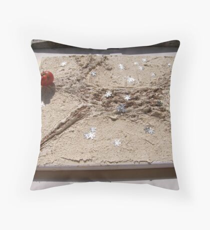 WINTER - LORD STAG AS RUDOLPH - 2 IN THE GARDEN Throw Pillow