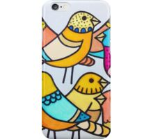 Colourful birds iPhone Case/Skin