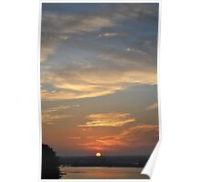 Sun Set Over Point Judith Poster