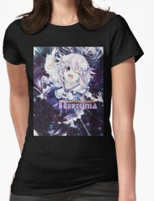 Hyperdimension Neptunia Re;Birth - Neptune - Title Text - FRICTION EDIT Womens Fitted T-Shirt