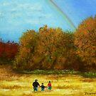 fall walk in the rain by Dan Wagner