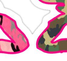 Buck Camo & Pink Doe Heart Deer Asst Colors Sweat Sticker
