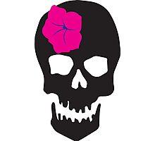 Cool, Skull, Flower Photographic Print