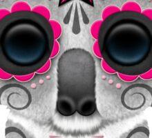 Pink Day of the Dead Sugar Skull Baby Koala Sticker
