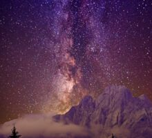 Milky Way over the alps Sticker