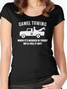 Camel Towing Funny T Shirt Adult Humor Rude Gift Tee Shirt Tow Truck Unisex Tee Women's Fitted Scoop T-Shirt