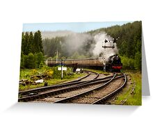 The Train Arriving Greeting Card
