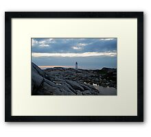 Lighthouse from Afar - Peggy's Cove Framed Print