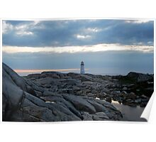 Lighthouse from Afar - Peggy's Cove Poster