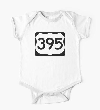 US Route 395 Sign One Piece - Short Sleeve