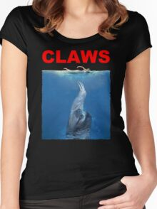 Claws Jaws Spoof parody Cute Sloth Hipster Premium Quality Women's Fitted Scoop T-Shirt