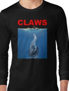 Claws Jaws Spoof parody Cute Sloth Hipster Premium Quality Long Sleeve T-Shirt