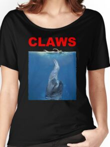 Claws Jaws Spoof parody Cute Sloth Hipster Premium Quality Women's Relaxed Fit T-Shirt