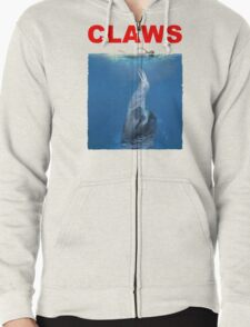 Claws Jaws Spoof parody Cute Sloth Hipster Premium Quality Zipped Hoodie