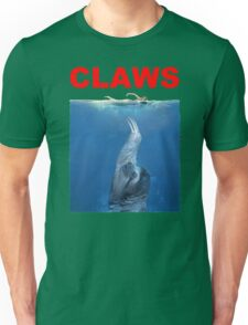 Claws Jaws Spoof parody Cute Sloth Hipster Premium Quality Unisex T-Shirt