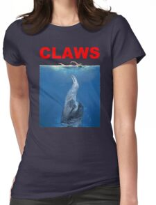 Claws Jaws Spoof parody Cute Sloth Hipster Premium Quality Womens Fitted T-Shirt