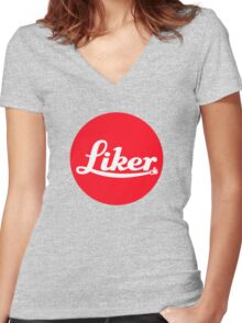leica liker Women's Fitted V-Neck T-Shirt