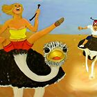 Ostrich race by shearart