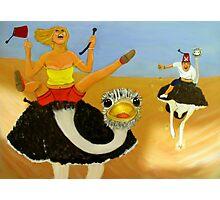 Ostrich race Photographic Print