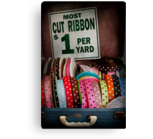 Sewing - Ribbon by the yard Canvas Print