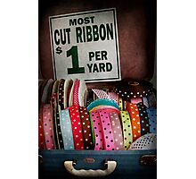 Sewing - Ribbon by the yard Photographic Print