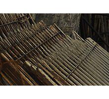 Boundary railings@junkyard Photographic Print