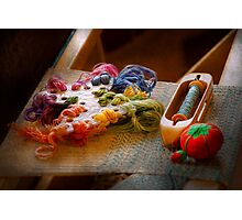 Sewing - Yarn - Threads of time Photographic Print