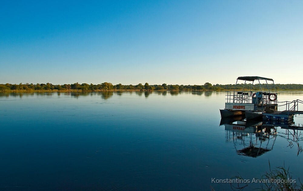 Sunrise at Caprivi strip by Konstantinos Arvanitopoulos