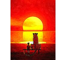 Calvin and Hobbes Sunset Photographic Print