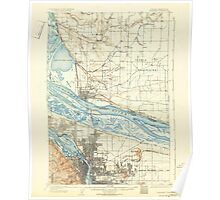USGS Topo Map Oregon Portland 282798 1905 62500 Poster