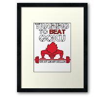 Train To Beat GOKU Framed Print