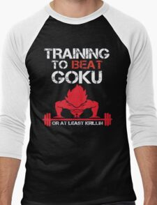 Train To Beat GOKU Men's Baseball ¾ T-Shirt
