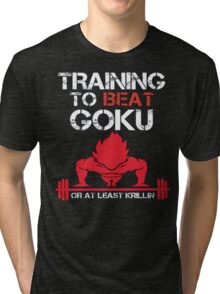 Train To Beat GOKU Tri-blend T-Shirt