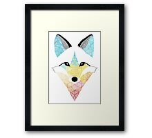 Multicolor Fox Framed Print