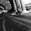 Lime Street Station - Cyclist by Liam Liberty