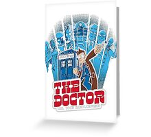 Dalek Dr Who Inspired - DOCTOR WHO EXTERMINATE TARDIS Greeting Card