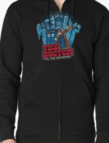 Dalek Dr Who Inspired - DOCTOR WHO EXTERMINATE TARDIS Zipped Hoodie