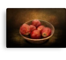 Food - Apples - A bowl of apples  Canvas Print