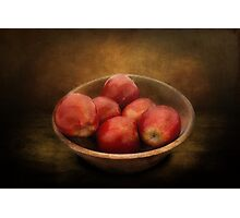 Food - Apples - A bowl of apples  Photographic Print