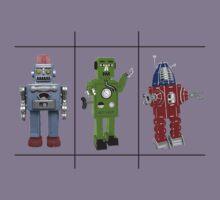 Retro Toy Robots Kids Tee