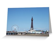 Blackpool Tower & Central Pier Greeting Card
