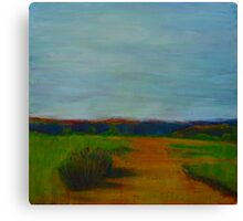 Through the Rolling Fields, mixed media on canvas Canvas Print